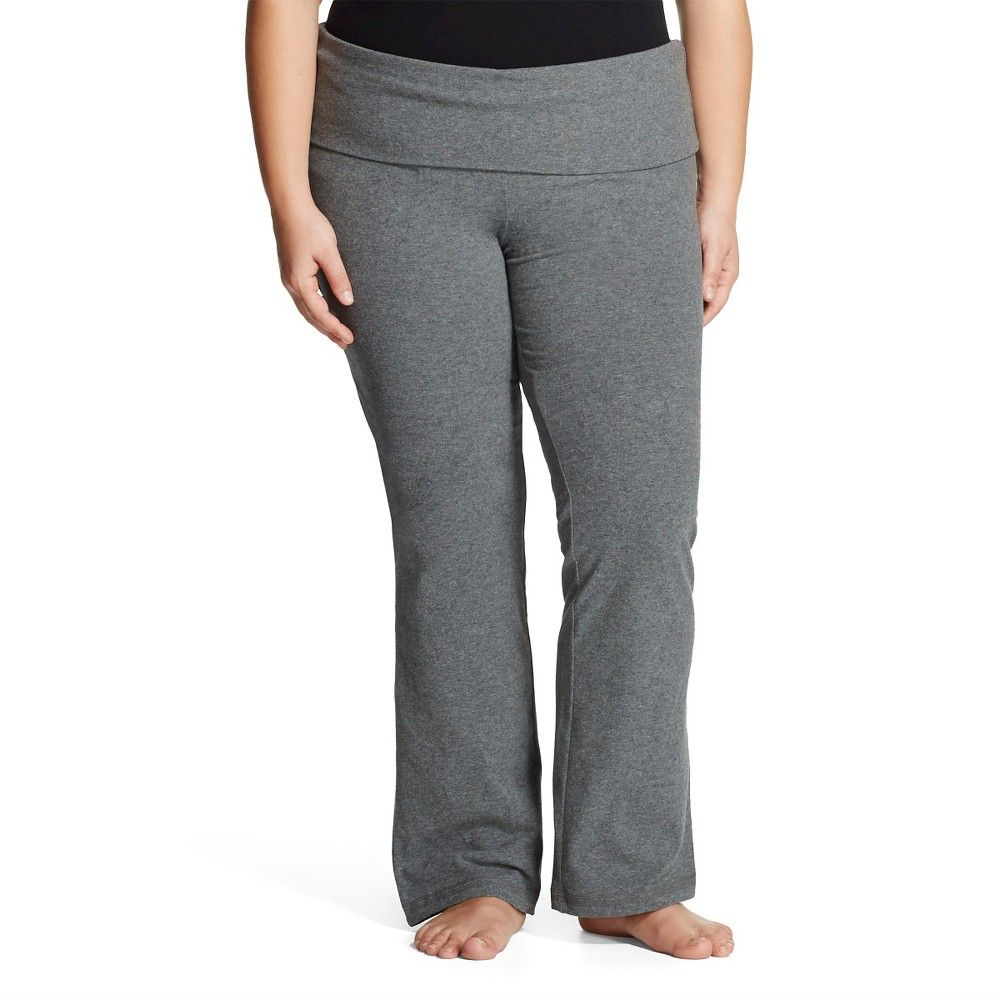 3682e1f6a5f Women s Plus Size Bootcut Yoga Pant Dark Grey 1X - Mossimo Supply Co.(Juniors )