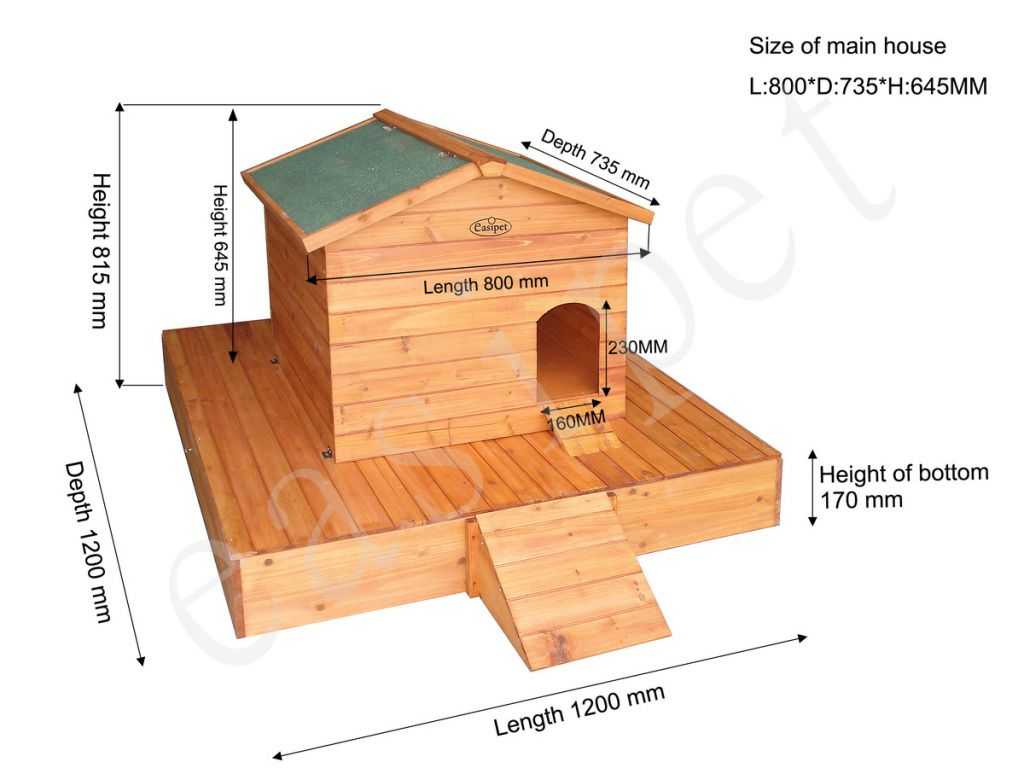 Large Duck House Wooden Floating Platform Wood Nesting Box Waterfowl ...