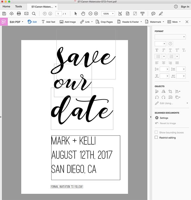 Check Out These Adorable FREE Printable Save the Date ...