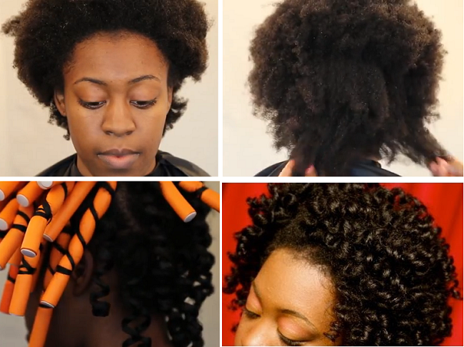 Stretch 4c Hair With Flexi Rods Tutorial 4c Natural Hair Hair Styles Natural Hair Styles