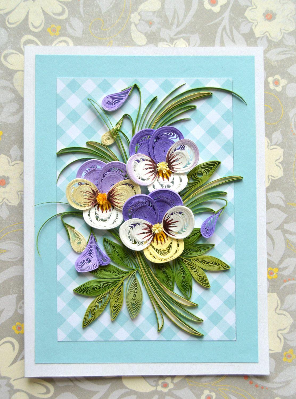 Смешные, открытка из бумаги с цветочками