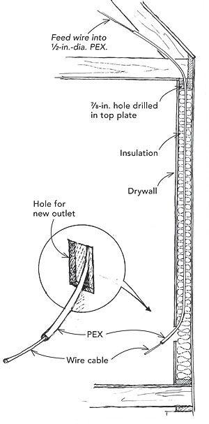 wire wiring in wall speaker
