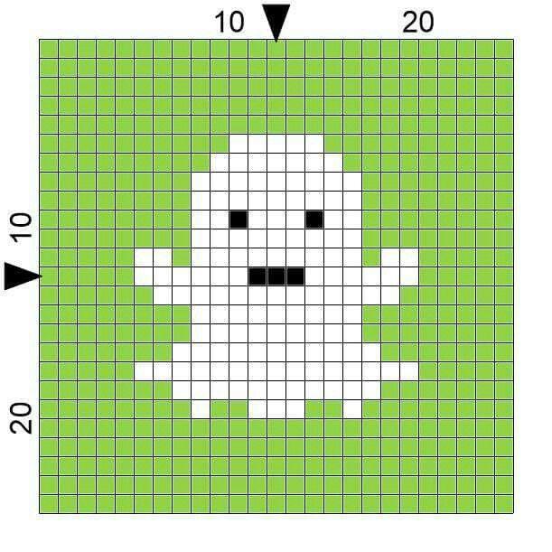 Halloween ghost cross stitch. | Crochet October | Pinterest | Punto ...