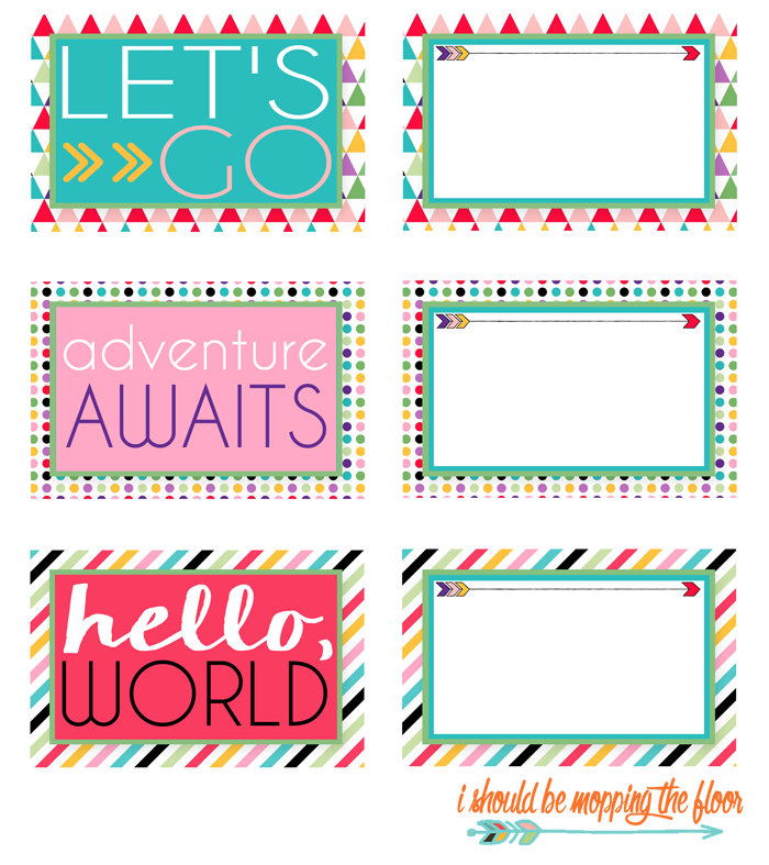 Free Printable Luggage Tags | A mod, Bags and Punch