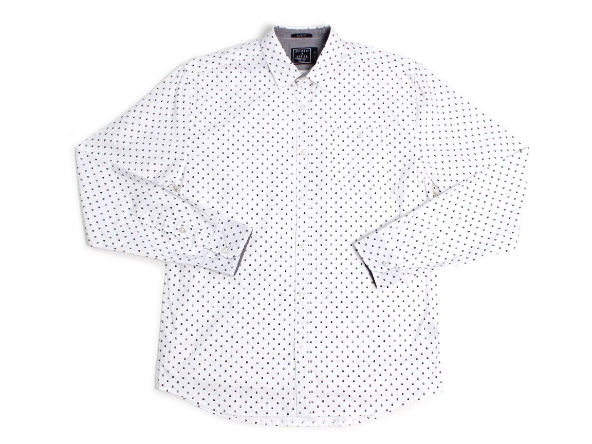Micro Ghosts LS Button Up
