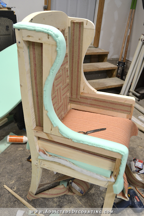 Diy wingback dining chair how to upholster the frame part 1 geek nerd was ich immer - Stuhle selber polstern ...