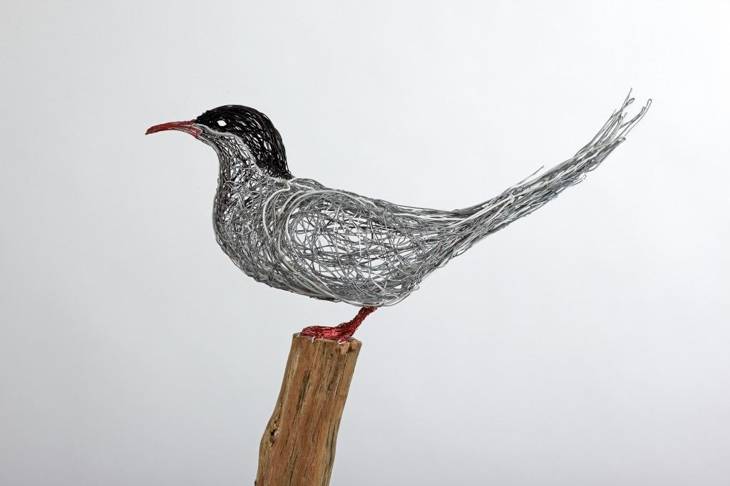 Detail of Arctic Tern. 2010. 140 cm tall. Steel wire, copper wire ...