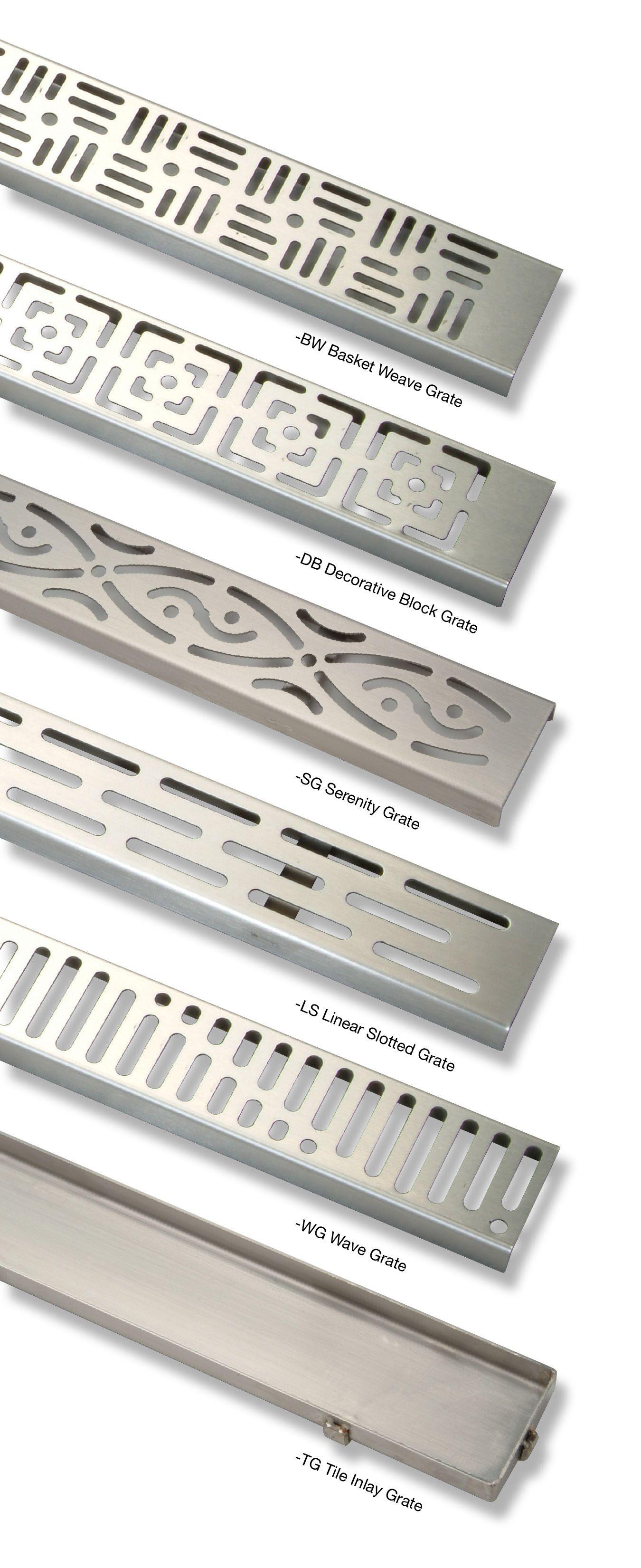 Zurn Zs880 Stainless Steel Linear Shower Drains Texture