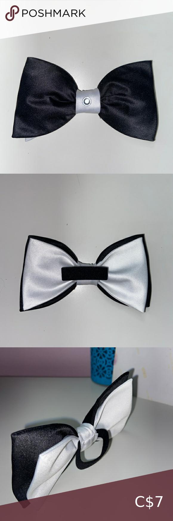 3/$15 ️ Black/ White Hair Bow