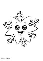 Disegni Di Fiocchi Di Neve Da Colorare Portale Bambini