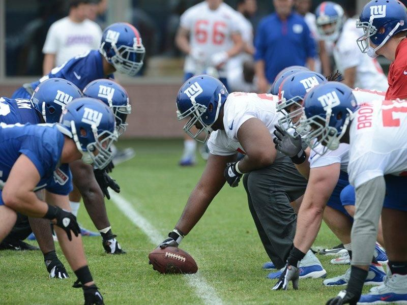 OTA Practice 1 Ota, Football helmets, Ny giants