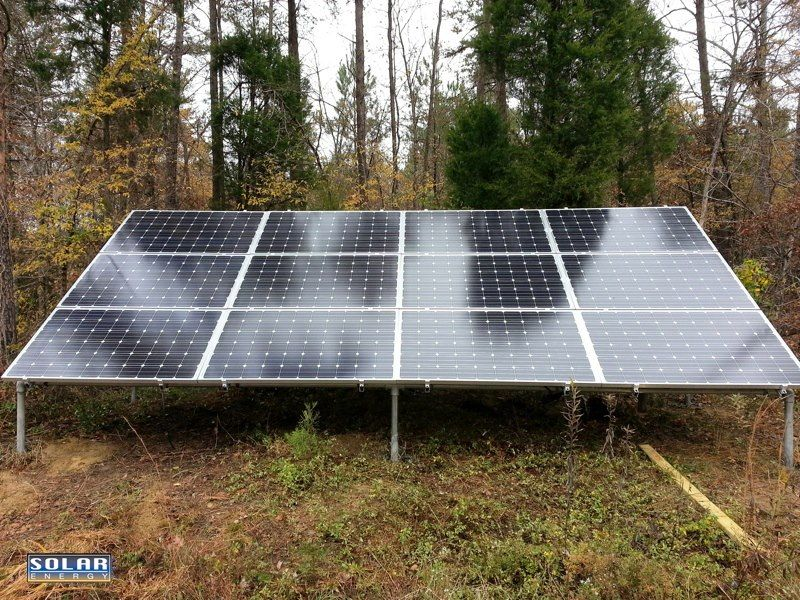 Photovoltaic Pv System With Ground Mount 12 Panels 3 0 Kw Salisbury North Carolina Solar Installation Solar Pv Panel Solar Panels