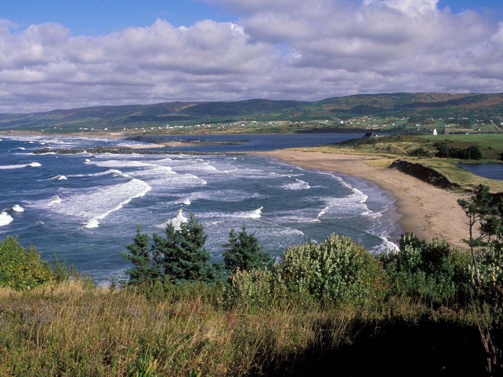 the beach at margaree harbour on the cabot trail
