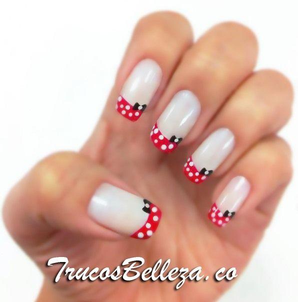 Inspiración Minnie Mouse.   nails   Pinterest   Trucos de belleza ...
