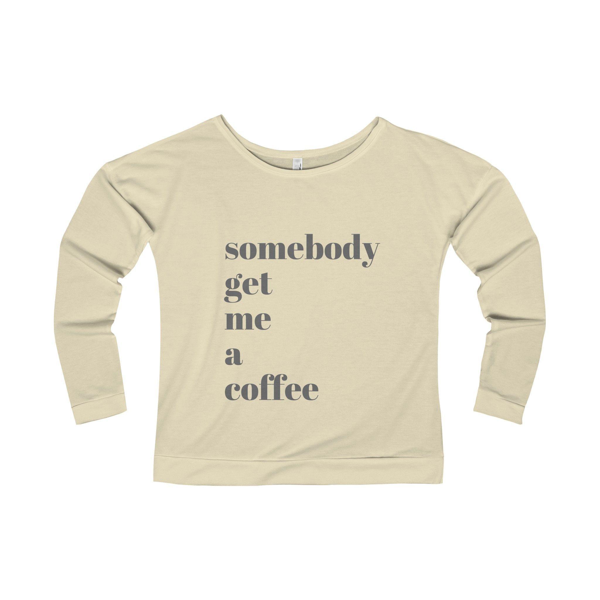 Coffee Women's Terry Long Sleeve Scoopneck T-Shirt