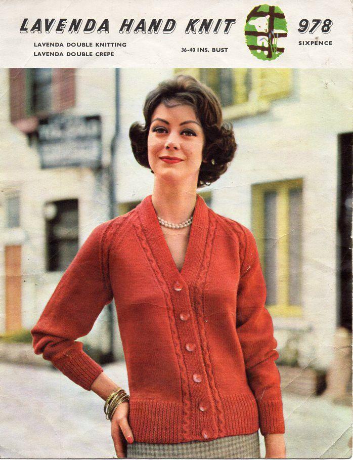 womens cardigan knitting pattern pdf ladies v neck jacket border ...