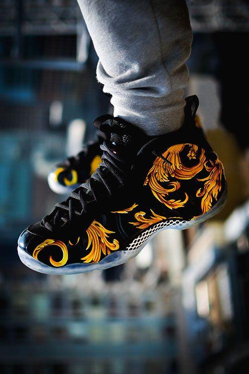 80371044fff3d Supreme x Nike Air Foamposite One Black Metallic Gold ...
