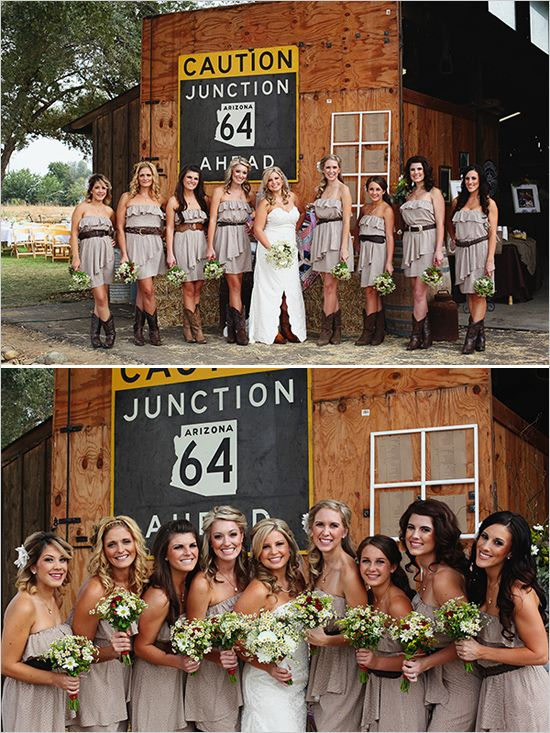 Country Bridesmaid Looks Our Wedding By Kimberly Carlson Photography