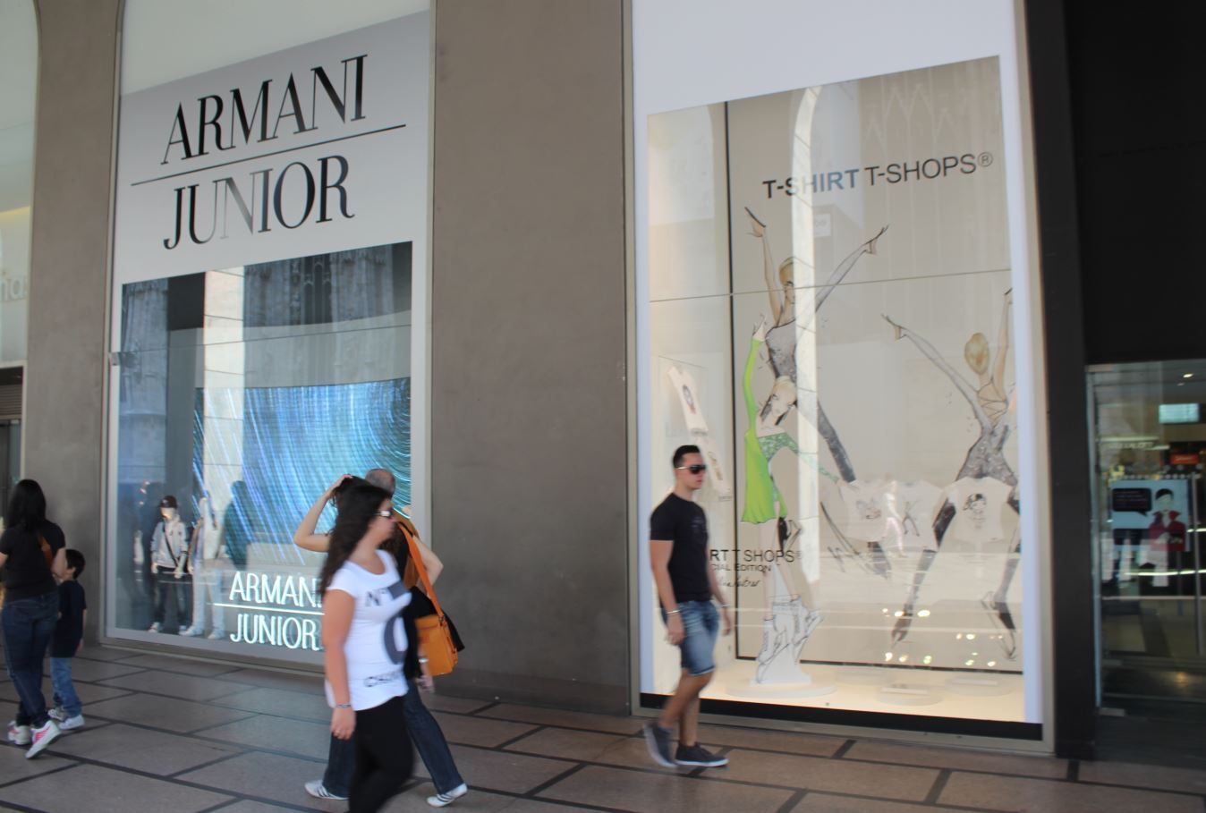 "T-SHIRT T-SHOPS In Milan  ""La Rinascente"" department Store"