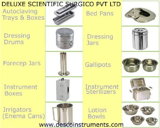 Hospital Supplies And Surgical Equipments India  Hay , This is desco(deluxe scientific surgico pvt ldt) Is The Manufacturer ,Exporter and Suppliers . Desco business in arround 52 countries has been maintained as one the best at their business by Providing The best service of good quality products. If you relate to any medical or hospital field must go and visit our website to find most of your desires. you will not have to pay for visit . See our all Products .WWW.DESCOINSTRUMENTS.COM