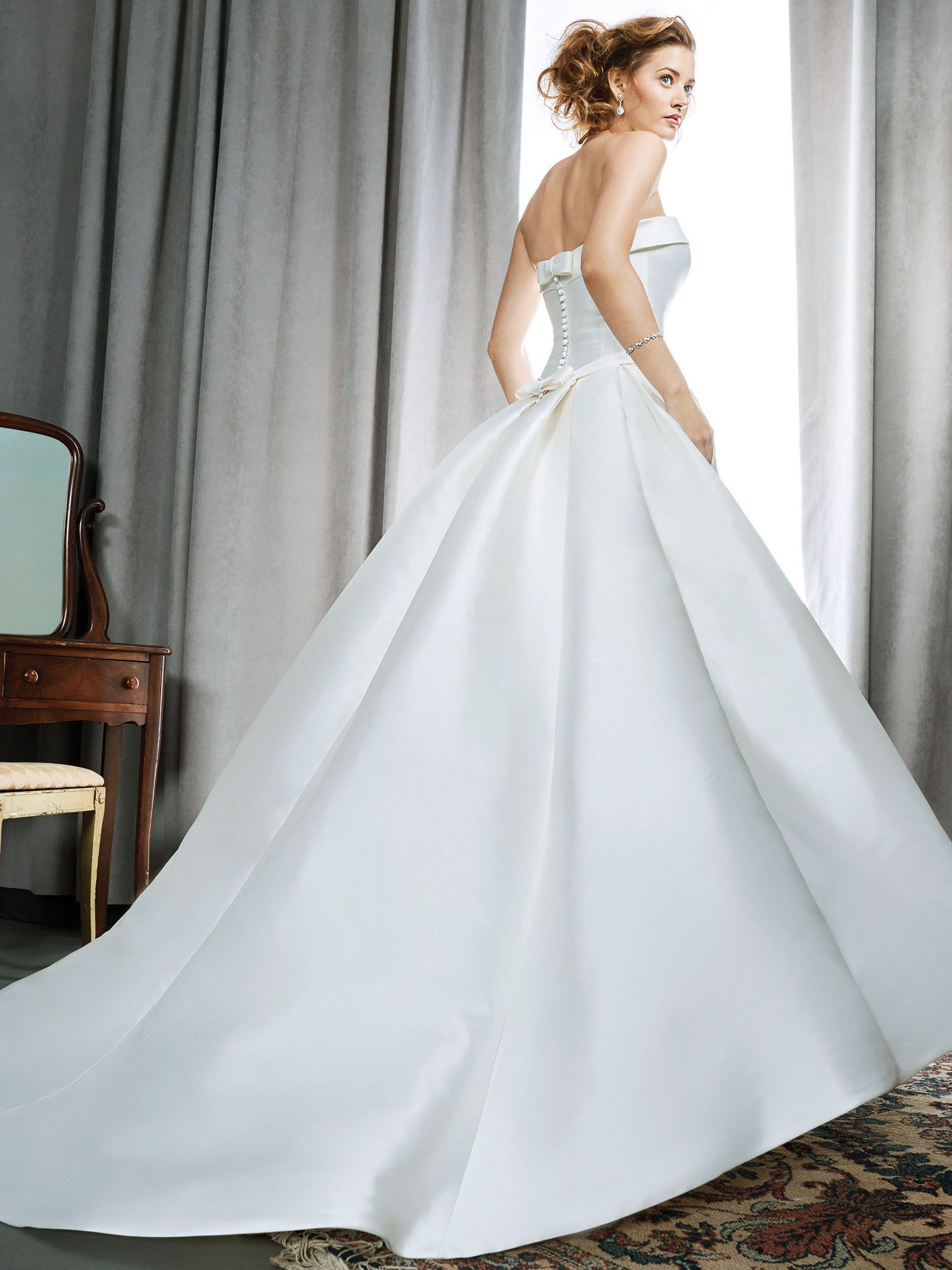 Kenneth Winston Style 1712 | classic silky mikado gown with sleek ...