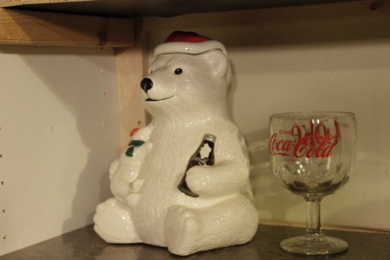 Hey, I found this really awesome Etsy listing at https://www.etsy.com/listing/238587259/vintage-coca-cola-bear-cookie-jar-circa