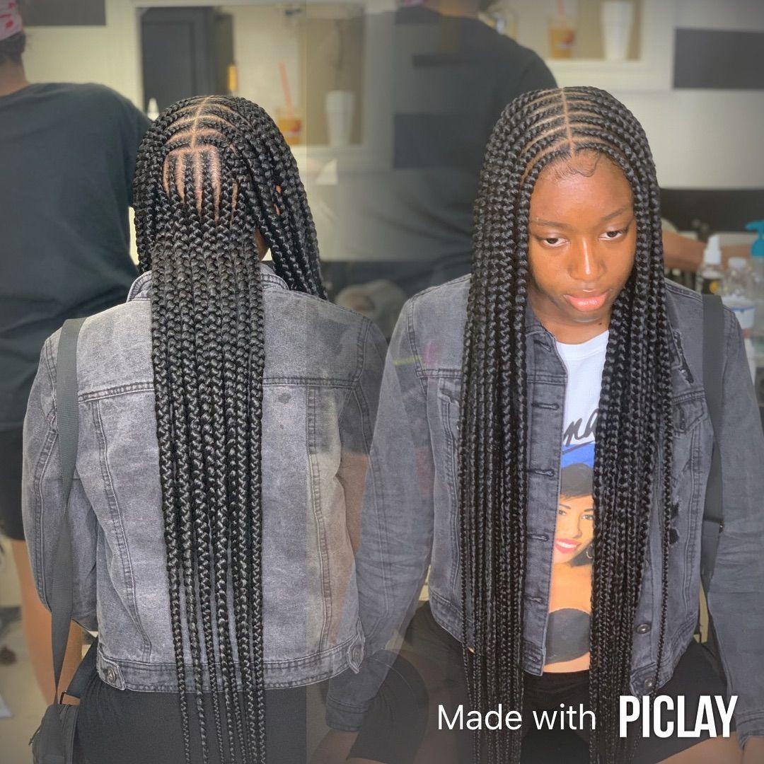 Layla On Instagram Jumbo Two Layer Braids By Layla Lauderdalebraider African Braids For Black Hair Braided Hairstyles Easy African Hair Braiding Styles