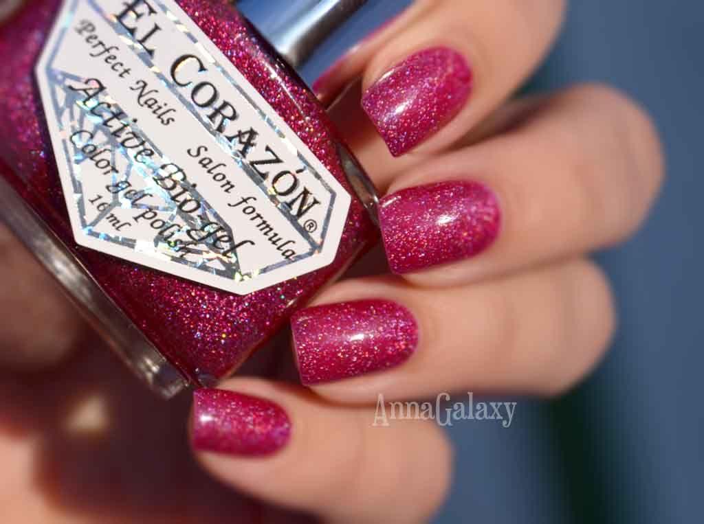 Anna Galaxy: El Corazon Active Bio-gel Colour Gel Polish Лак