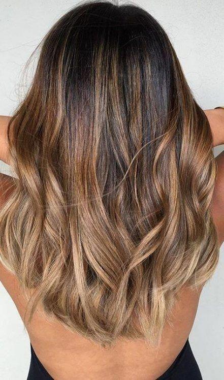 Super hair dark brown ombre colour ideas #hair #brownhair ...