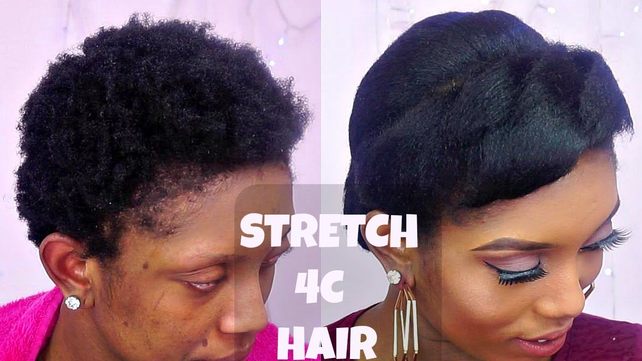 Short Flat Iron Hairstyles Fascinating How To Stretch Short 4C Natural Hair With Flat Iron Ft
