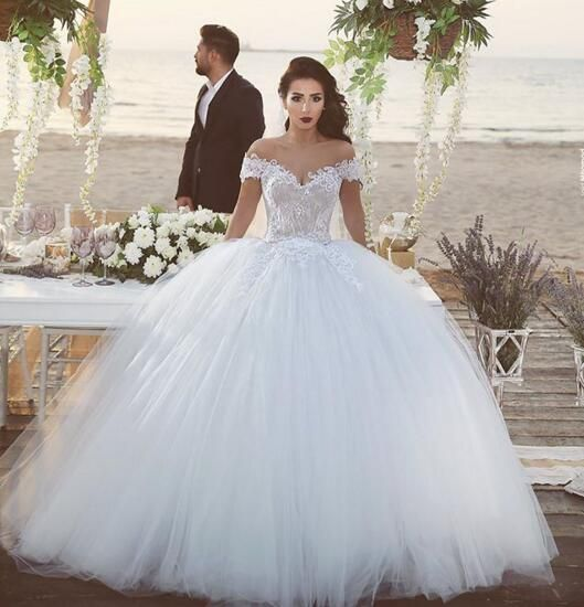 White Wedding Dresses,2016 Wedding Gown,Lace Wedding Gowns,Lace ...