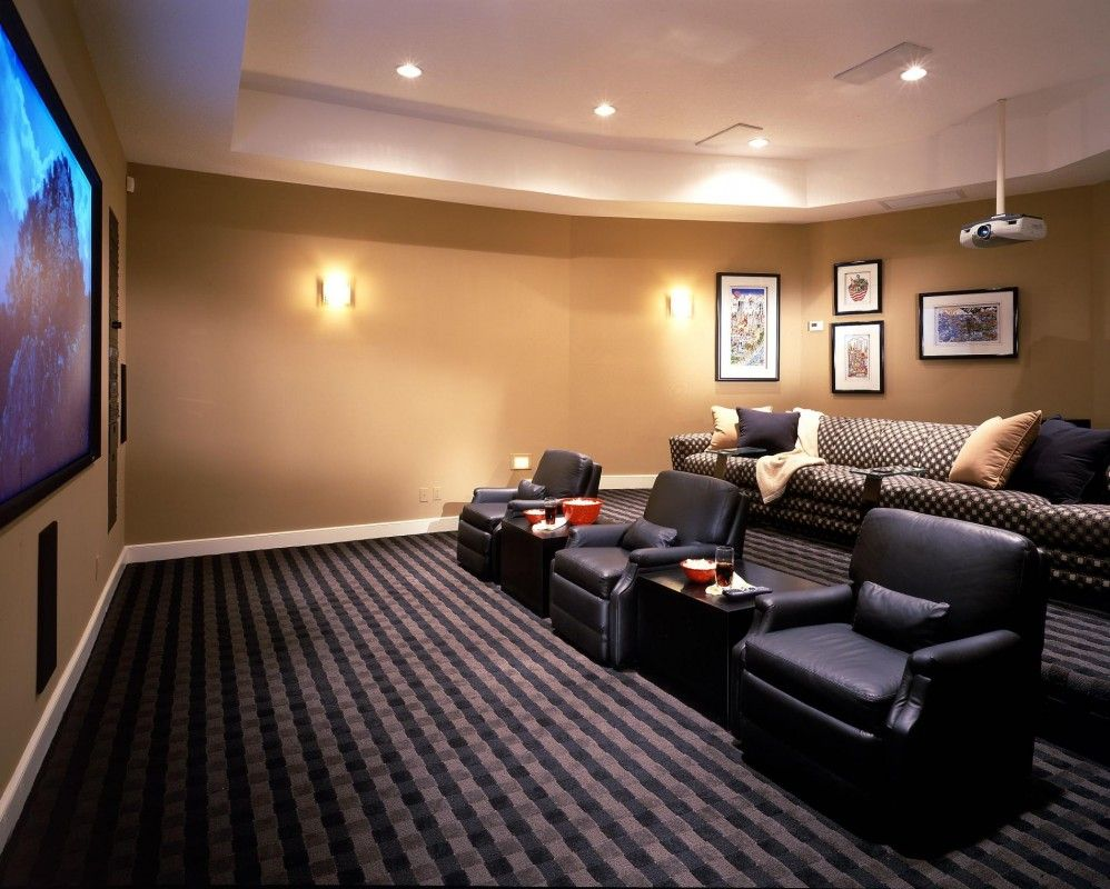 Smaller Room W Tiered Seating Media Room Ideas