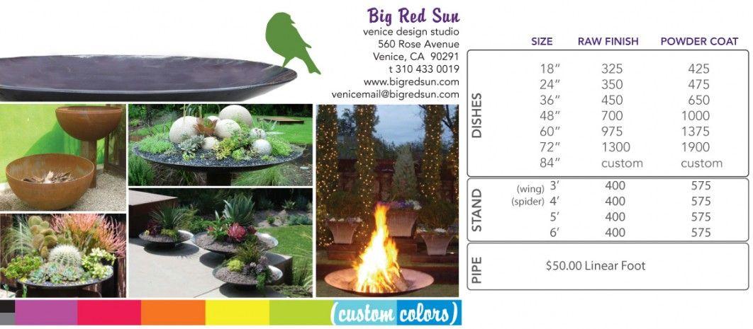 Big Red Sun_Steel Dish pricing
