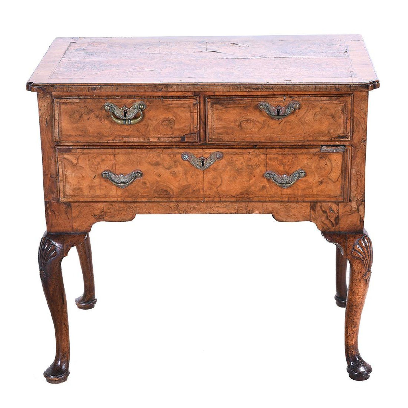 George i burl walnut veneer lowboy th century living room