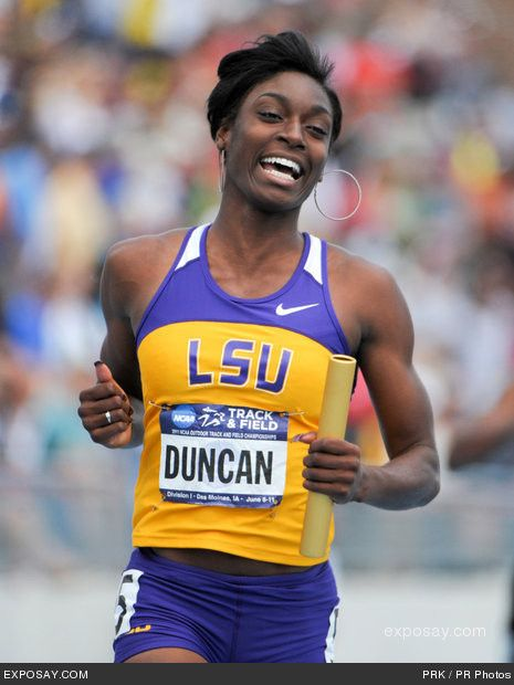 """Kimberlyn Duncan 5'10"""" Track & Field 200m LSU Someone to watch for at IAAF World Championships Track & Field"""