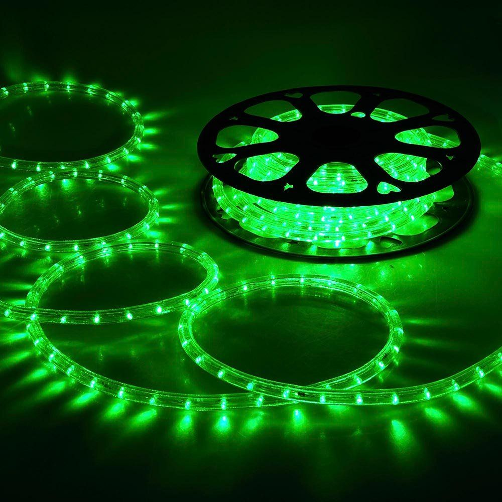 DELight 50ft Green 2 Wire LED Rope Light Indoor Outdoor Home Holiday ...