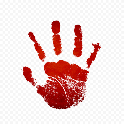 Hd Red Real Handprint Right Hand Png Png Red Hand Print