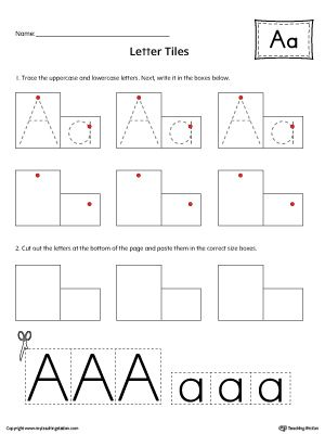 letter a tracing and writing letter tiles alphabet worksheets alphabet worksheets letter. Black Bedroom Furniture Sets. Home Design Ideas