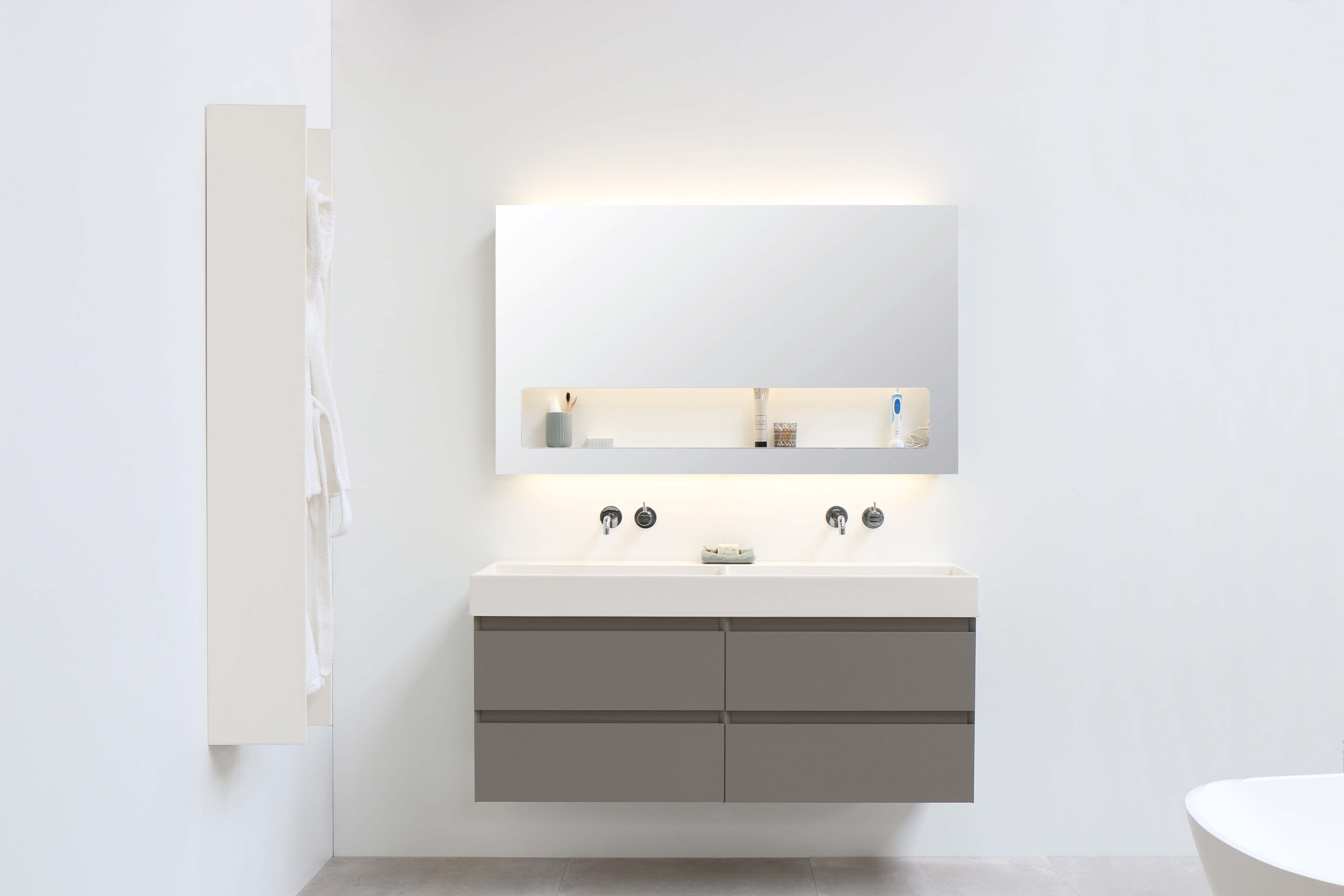 Badkamermeubel met spiegelkast ffdn luxe spiegelkast cm breed
