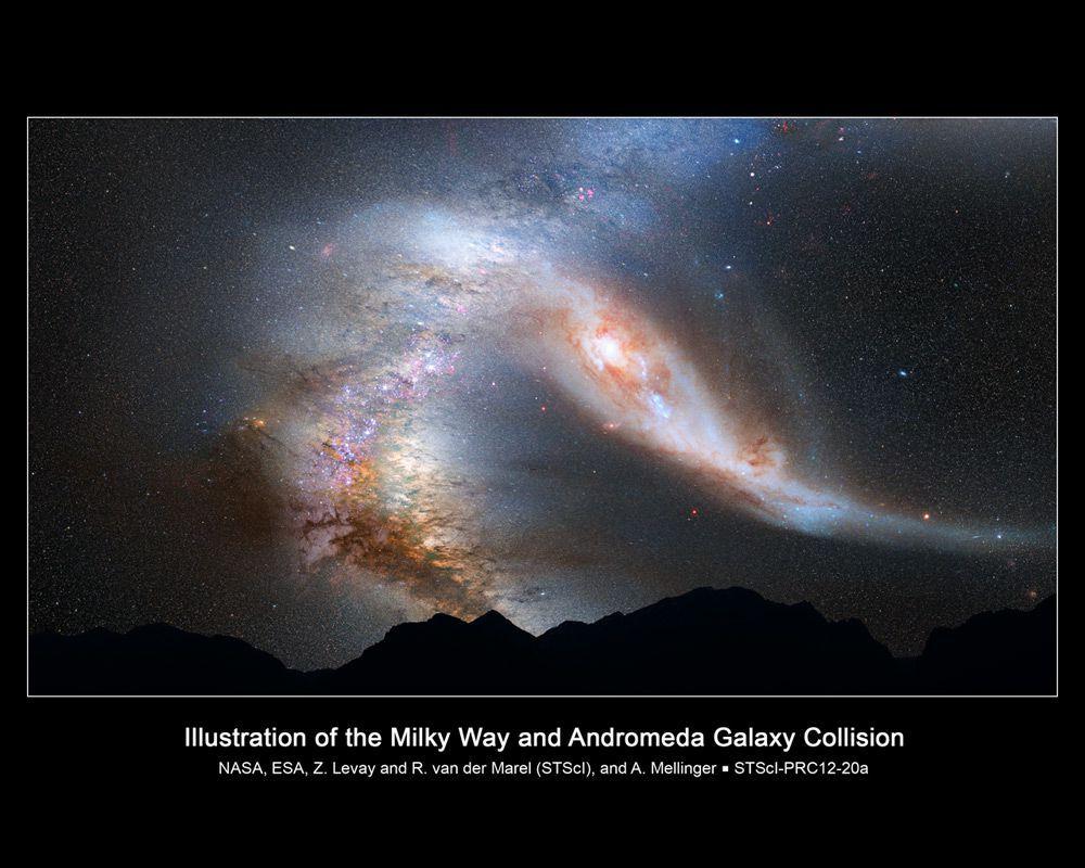 Actualité > Mond : Andromède et la Voie lactée seraient déjà entrées en collision