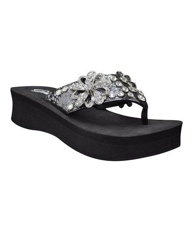 fcbc42eb415fb Another great find on  zulily! Black Estate Platform Sandal by ...