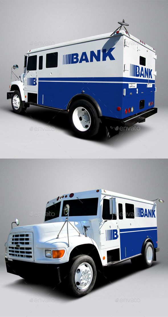 Ford F800 Armored Truck Wrap MockUp Photoshop PSD Psd O Available Here