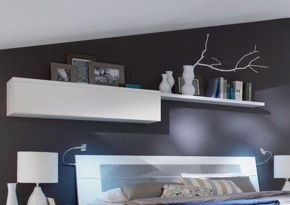 Alina Hängeelement/Wandregal Weiss/grau #wohnzimmer #schlafzimmer #esszimmer