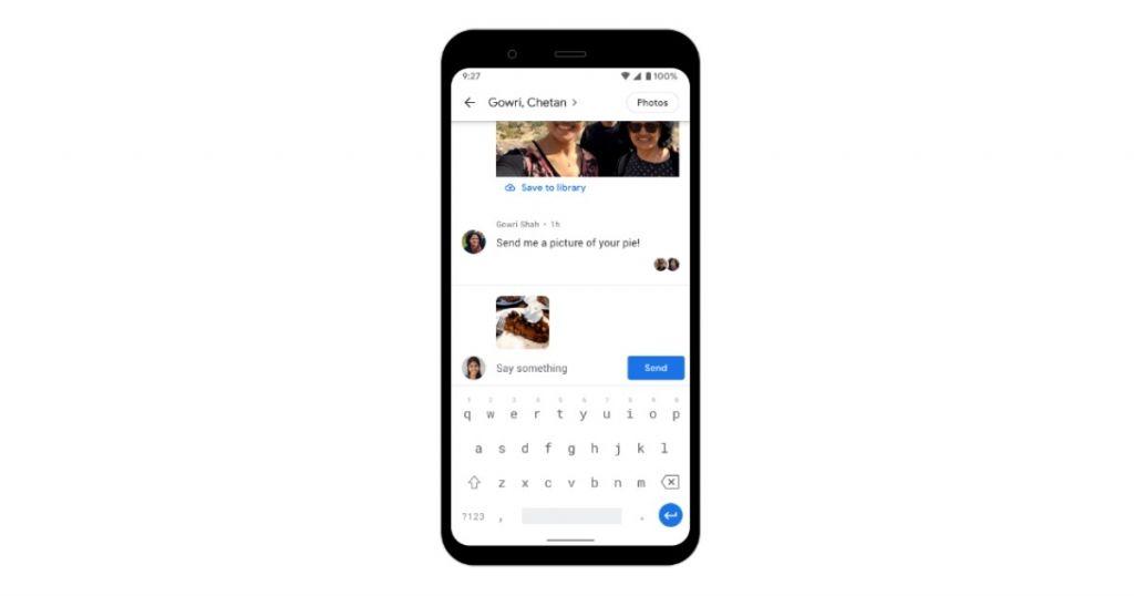 Google Photos يتيح الآن مشاركة الصور في محادثات خاصة داخل التطبيق صدى التقنية App Electronic Products Phone