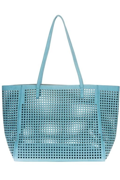 Perforated Tote Bag | Light Blue