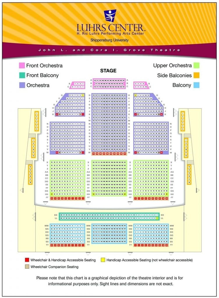 Fox Theater Detroit Seating Chart Seating Charts Chart Shippensburg University