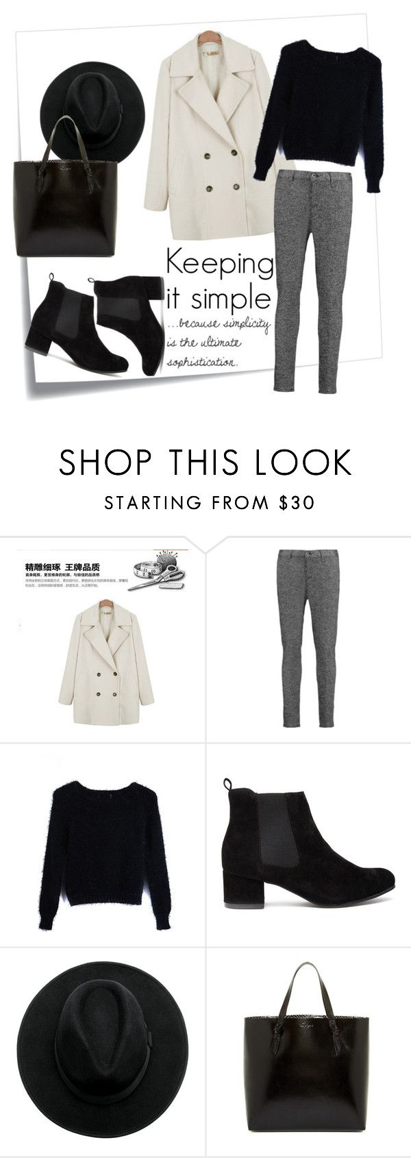 """""""Keeping it simple"""" by taniadeseptembre ❤ liked on Polyvore featuring Post-It, Ashlee, rag & bone and Foley + Corinna"""