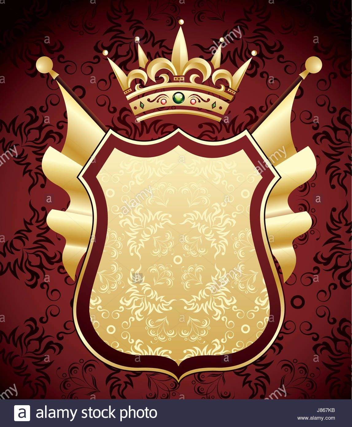 Download This Stock Image Coat Arms Gold Mantle Greeting