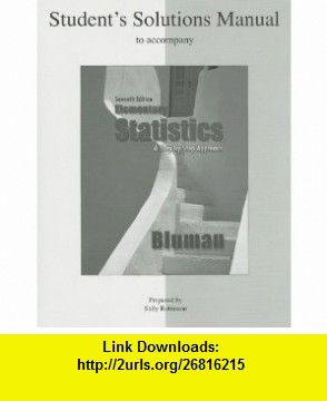 Student solutions manual elementary statistics a step by step student solutions manual elementary statistics a step by step approach 9780073331287 allan bluman fandeluxe Gallery