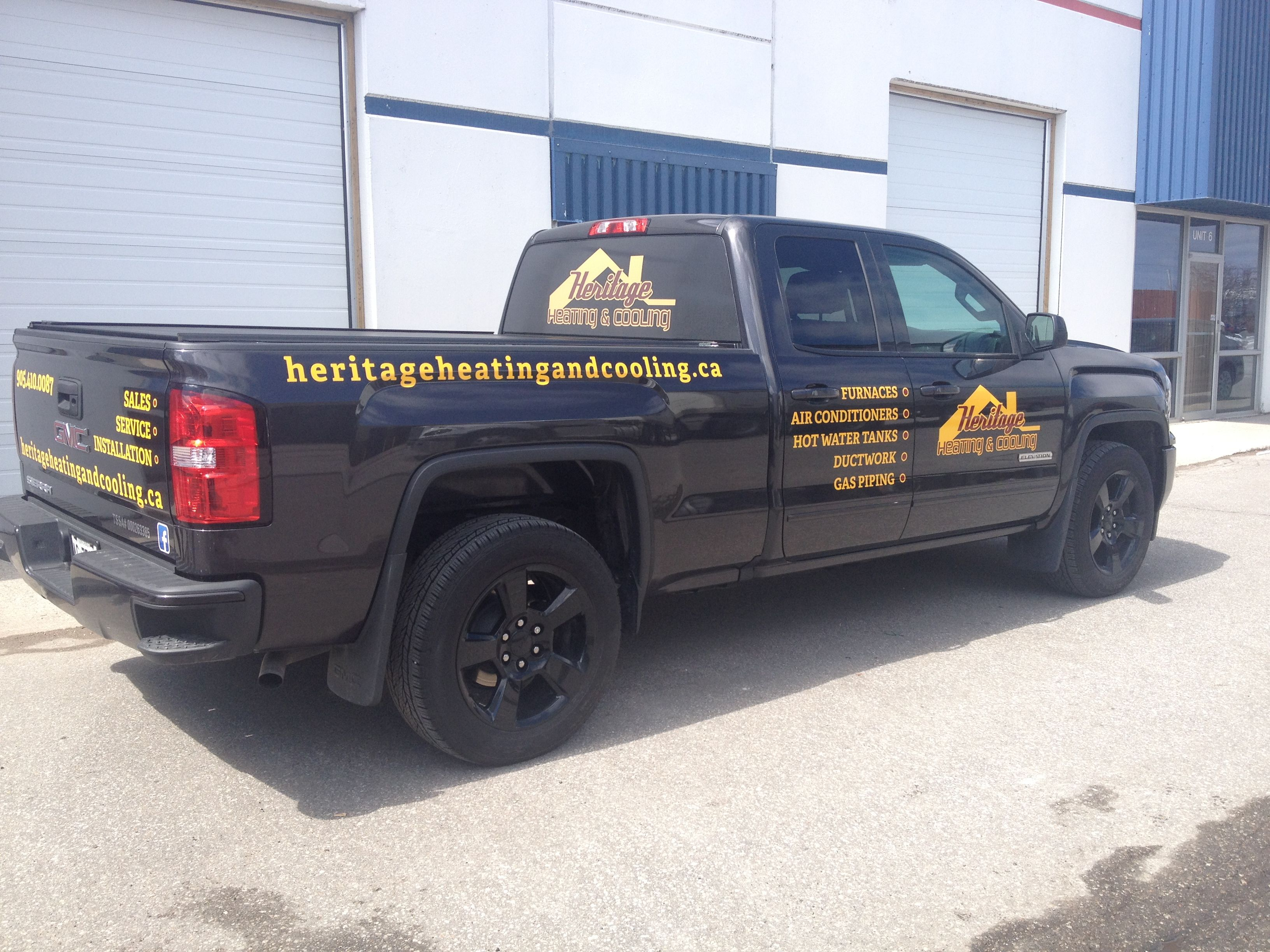 Some Fresh New Graphics For Heritage Heating Cooling Digital Print Perforated Vinyl On The